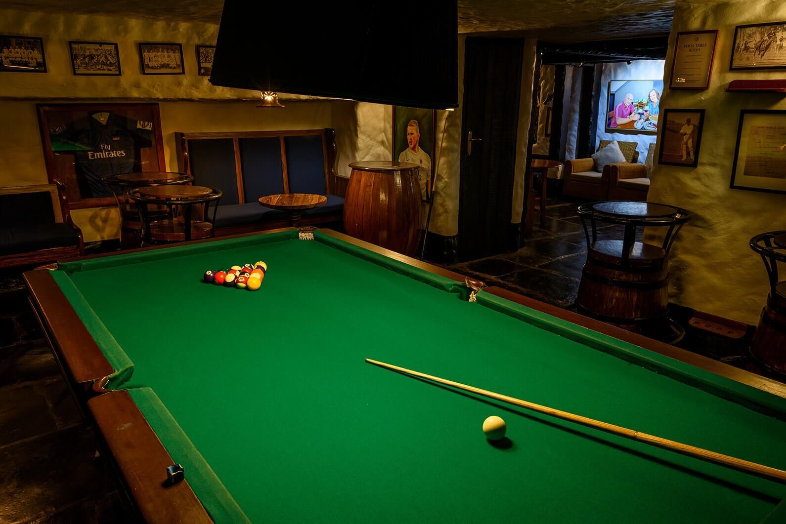 Pool Table at Attwood's Pub
